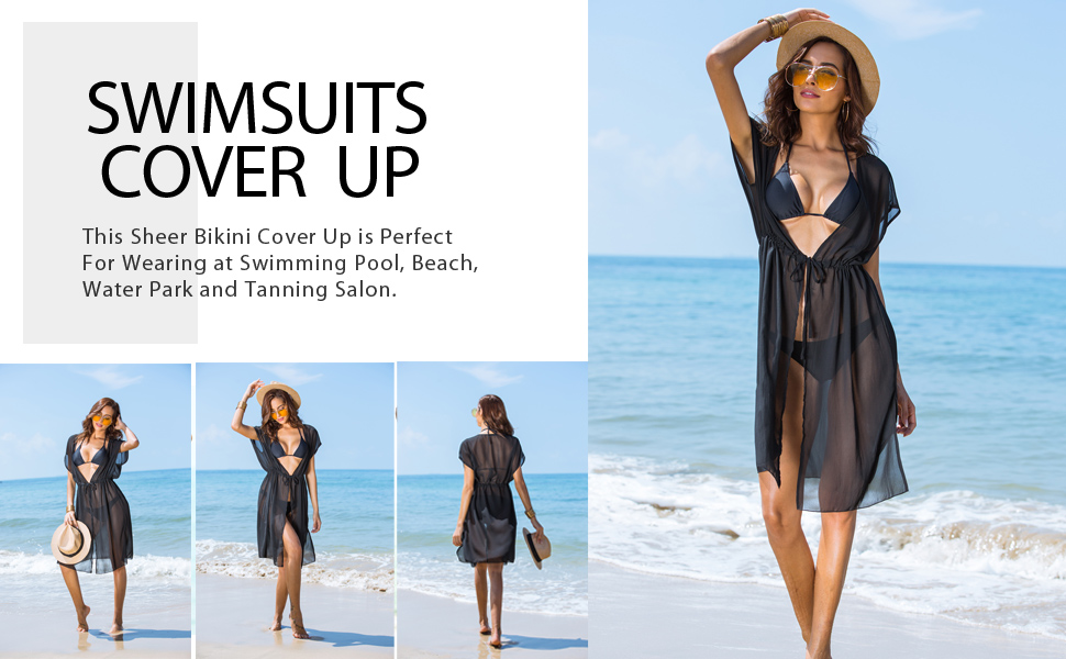 942f673720a Ekouaer Women's Summer Bikini Cover Up Sexy Sheer Swimwear Long Chiffon Beach  Dress. 123. Size: There are 3 sizes (S, L, XXL) available for the following  ...