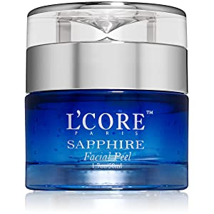 LCore Paris Sapphire Facial Peel with Organic Extracts - Anti Aging Facial Peeling Gel Infused with...