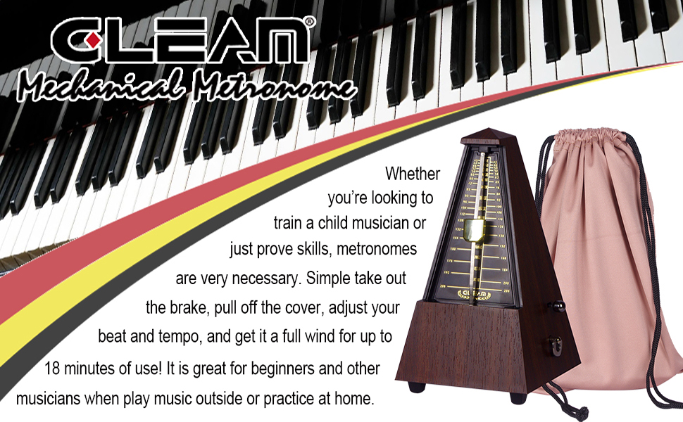 Mechanical for Musicians with Free Bag GLEAM Metronome Teak