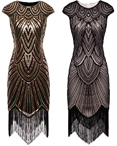 d8629a50 ♥A pretty dress with a lot of details, fully beaded with beads and sequins,dazzing  and gorgeous. The layers of fringe on the bottom stands like waterfall, ...