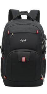 17.3 inch large laptop backpack for school travel business work Black