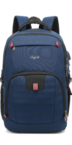 17.3 inch large laptop backpack for school travel business work Blue