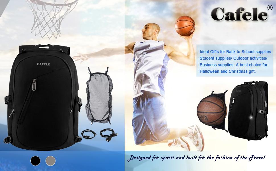 Cafele school bookbag Laptop backpack for travel business work College Students