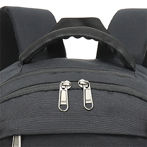 Comfortable Sturdy Handle & Durable Metal Dual-Zippers