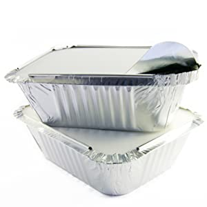 Amazon Com Tiger Chef 40 Pack Oblong Tin Foil Pans With
