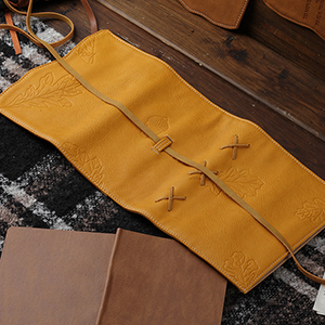 vegan leather cover yellow color