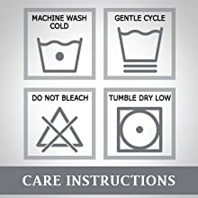 Washing instruction pillow cover