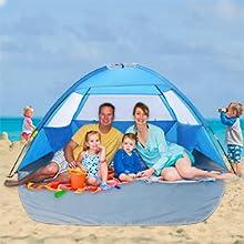 Tienda Anti-Ultravioleta Plegable del Refugio port/átil de Sun para la Playa del Verano Que Camina Acampar gaeruite Tienda de la Playa