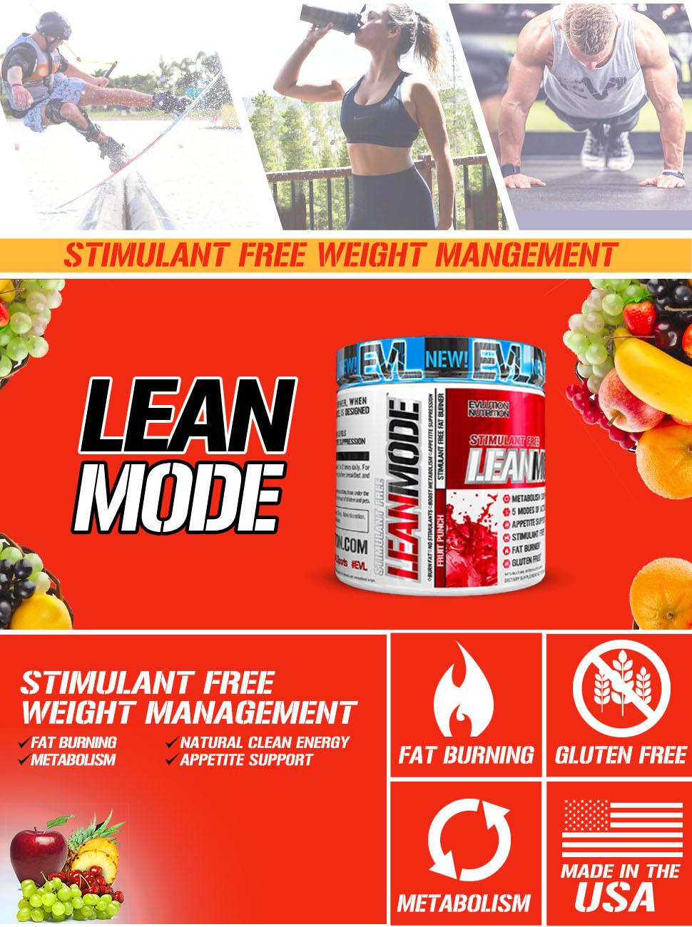 Lean Mode Powder (non stimulant fat burner)
