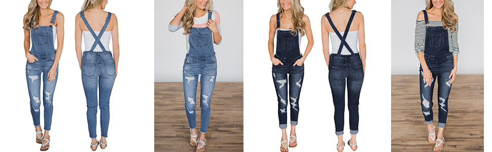d11bbaca4a5 Amazon.com  GOSOPIN Women Juniors Fitted Distressed Denim Jeans ...