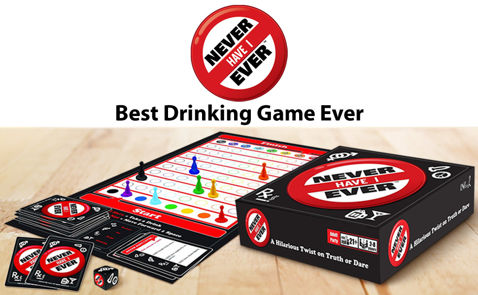 Novelty Drinking Game Never Have I Ever Truth Shots Game Party