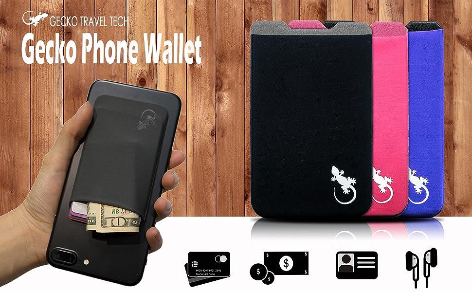 Amazon.com: Gecko Adhesive Phone Wallet & RFID Blocking