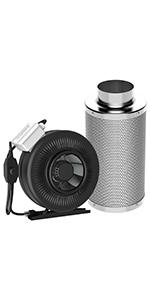 Amazon Com Vivosun 4 Inch 195 Cfm Inline Duct Ventilation