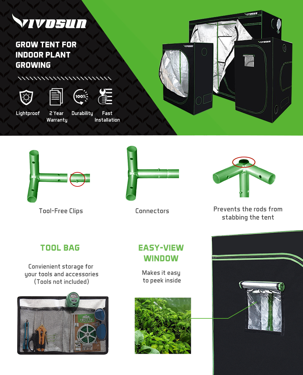 Unrivaled craftsmanship and materials make VIVOSUNu0027s grow tent the best choice for professional growers. Note Please be aware that all grow tents even ...  sc 1 st  Amazon.com & Amazon.com : VIVOSUN 48