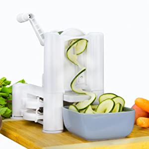 Brieftons 5 blade spiralizer noodles coming out