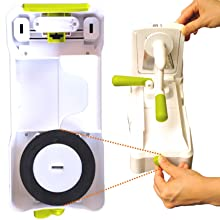 Foolproof suction pad on Brieftons 5 blade spiralizer
