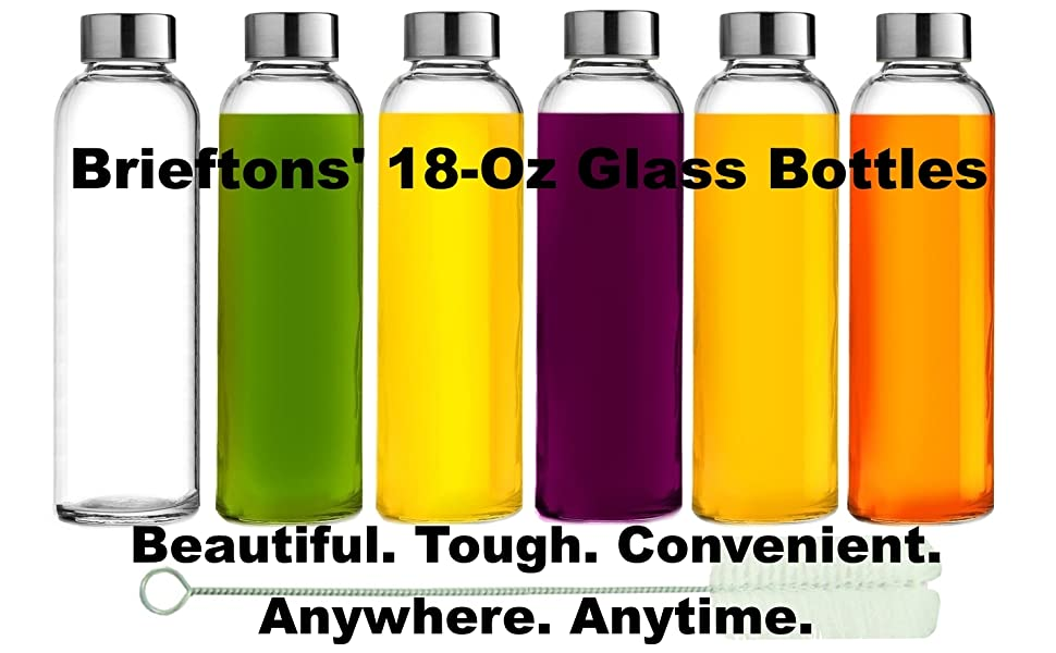 Brieftons glass bottles