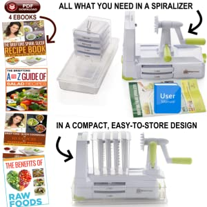 Brieftons 7-blade spiralizer the complete package