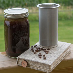 G.A HOMEFAVOR Cold Brew Kit Cold Brew Coffee Maker Wide Mouth Mason Jar Filter