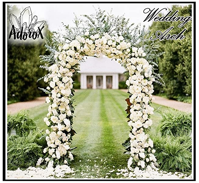 Amazon Com Adorox 7 5 Ft Lightweight White Metal Arch Wedding
