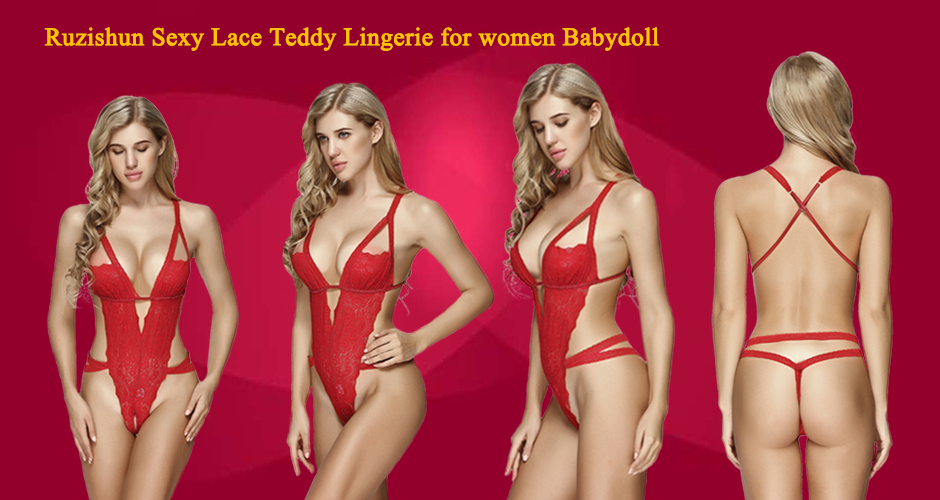 41edc874581 Ruzishun Sexy Lace Teddy Lingerie for Women. Description. Ruzishun lingerie.  Manufacturer Size