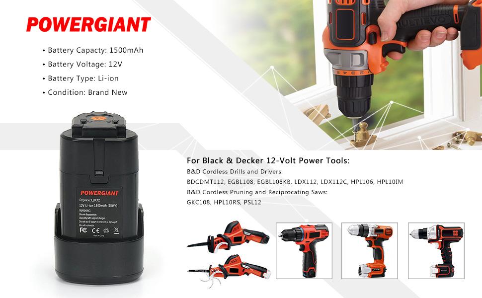 Amazon.com: PowereGiant - Batería de repuesto para Black ...
