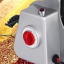 Happybuy Electric Grain Grinder 1000g Pulverizer Grinding Machine 2800W Mill Grinder Powder Machine 50-300 Mesh Stainless Steel Swing Type Grain ...