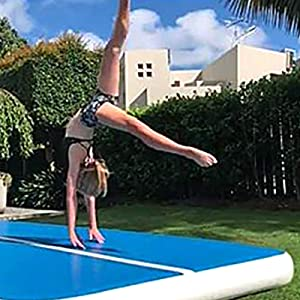 Amazon.com: Happybuy Pista de aire para gimnasia inflable ...