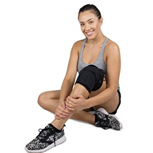 active heat, cordless heat wrap, heated knee wrap, warm knee compress, wireless knee heat, heated