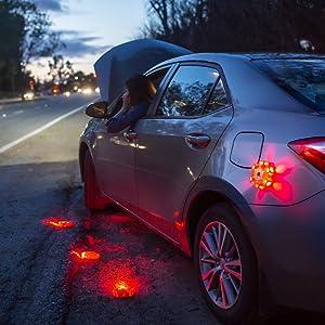 Michelin High Visibility LED Road Flare, led puck, led flare, led flashing disk, led disk, roadflare