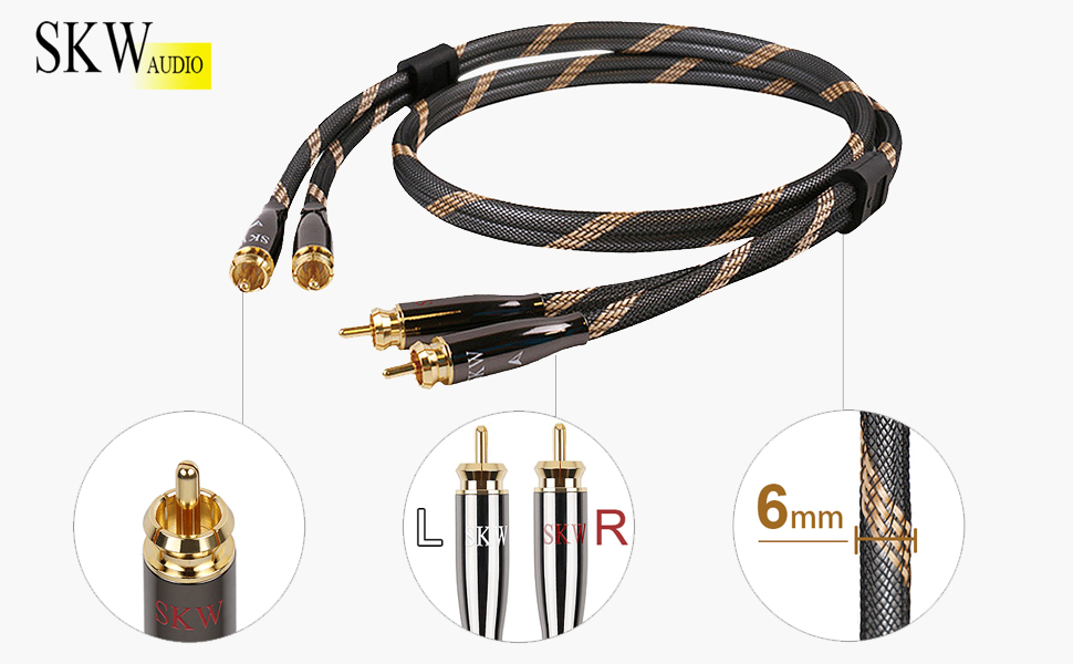 Never mind its thicker and tougher than most cables widely sold because SKW Cable uses more expensive materials which ensure reliable signal transmission.