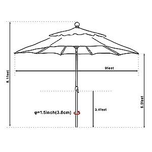 Amazon Com Eliteshade 9ft Market Umbrella Patio Outdoor Table