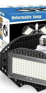 Led Garage Lights 100w Deformable Led Garage Ceiling