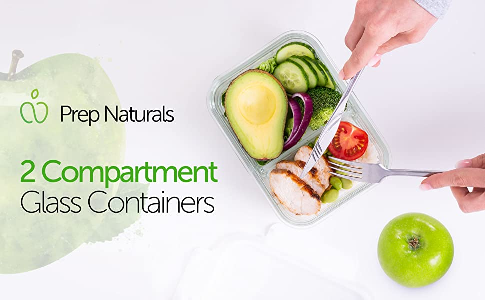 Prep Naturals Glass Containers