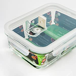 Glass, Container, Food, Prep, Meal, Naturals, Storage, Fridge, Healthy, Kitchen, Durable, 2, 5
