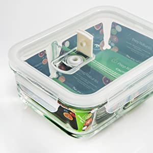 style meets function in these beautiful glass lunch containers with two that will give you better control over your meals and help you save