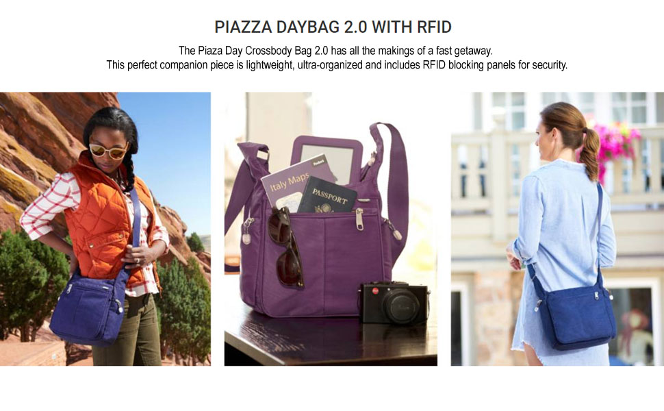 a08cbd8df391 eBags Piazza Daybag 2.0 with RFID Security - Small Satchel Crossbody ...