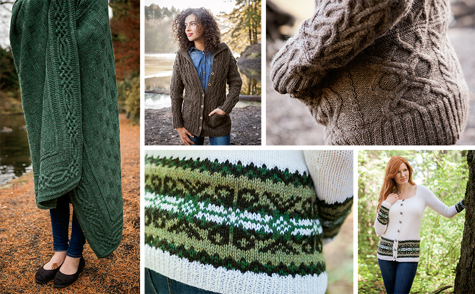 Knit Picks Wool of the Andes Yarn Worsted Medium Cable Fair Isle Colorwork Sweater Cardigan Afghan