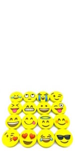Amazon.com: OHill 24 Pack Emoji Plush Pillows Mini Keychain ...