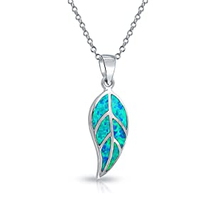 opal pendant 31mm UNIKAT Leaf silver pendant with opal roundels leaf pendant nature inspired jewelry