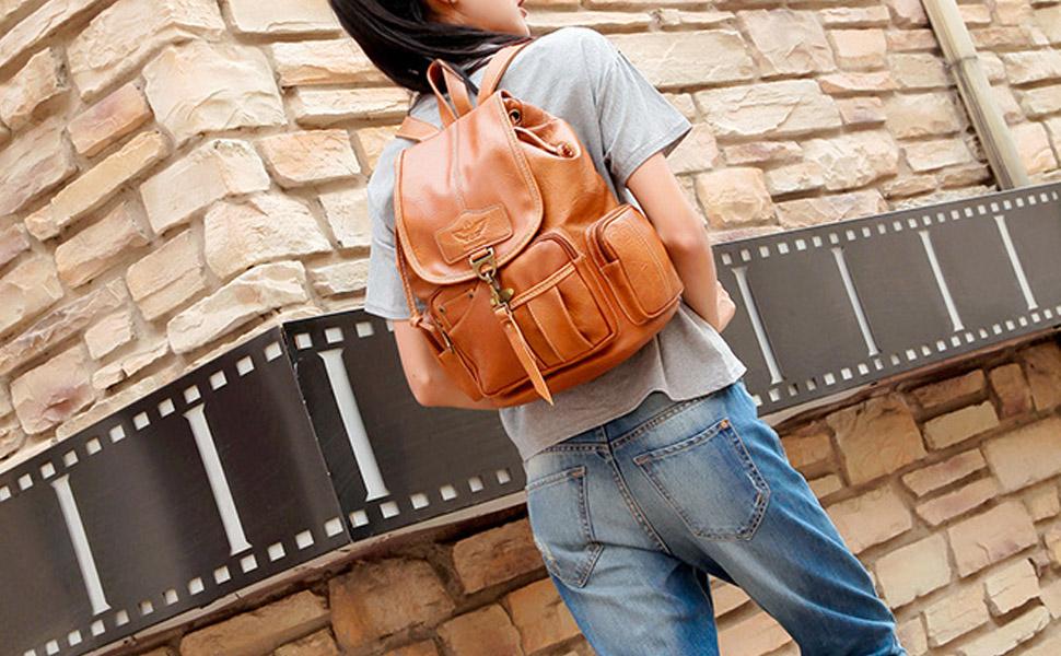 women lady backpack
