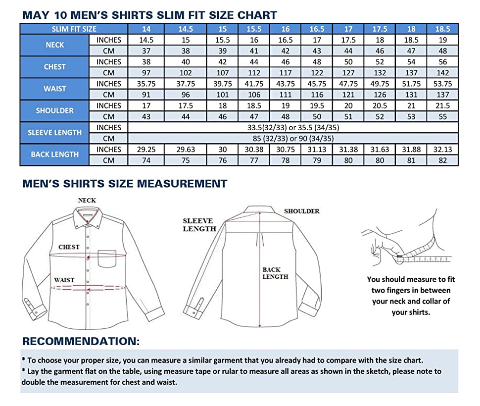 Size Chart For Mens Shirts Dreamworks