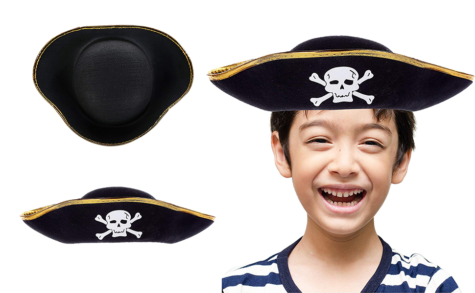 Childs Adults Large Costume Accessory Felt Pirate Hat