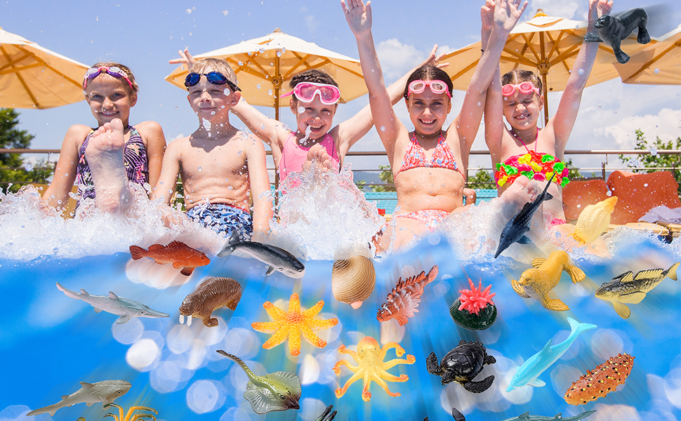 Pool Party, Water Party, Summer Party, Floating Sea Animal Figuriness