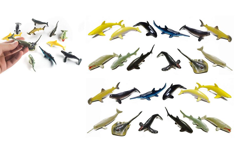 Deep Sea Creatures, Fun Toys, Plastic Animal Figures, Fish Toys, Plastic Toy Sea Creatures