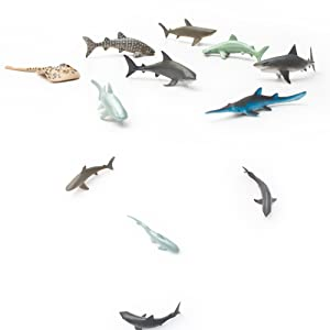 Sea Animal Figures Animal Toys 38pcs Mini Sea Animal Toys Set Realistic Animal S Jade White Animals & Dinosaurs Action Figures