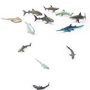 Toys & Hobbies Sea Animal Figures Animal Toys 38pcs Mini Sea Animal Toys Set Realistic Animal S Jade White