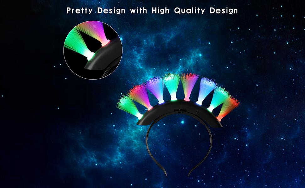 Amazon.com: Peinado de cresta de fibra óptica ...
