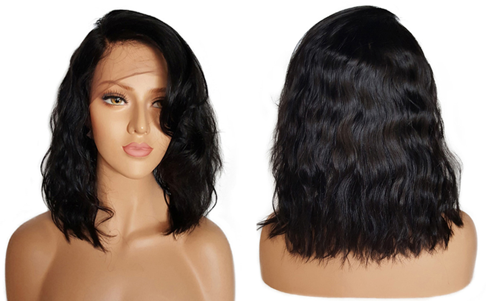Amazon Com Beeos Hair Brazilian Virgin Human Hair Lace Front Wigs