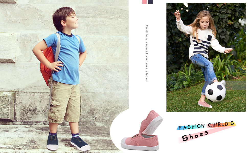 WEUIE Toddler//Little Kid Boys Girls Slip On Canvas Sneakers Comfortable/Casual Sports Running Shoes